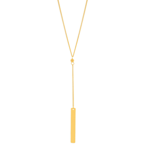 9ct Yellow Gold Silver Filled Pendant With 43cm Chain