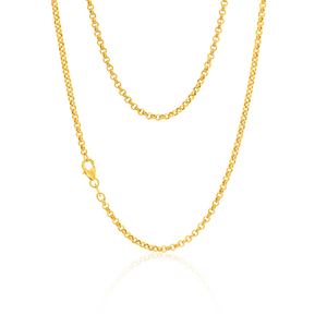 9ct Exquisite Yellow Gold Silver Filled Belcher Chain