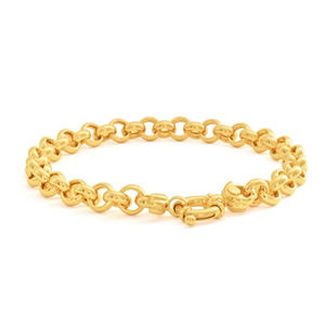 9ct Elegant Yellow Gold Silver Filled Belcher Bracelet