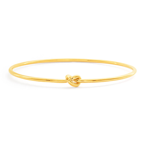 9ct Yellow Gold Silver Filled 67cm Knot Bangle