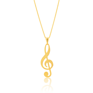 9ct Yellow Gold Silver Filled TREBLE Pendant