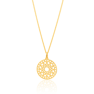 9ct Yellow Gold Silver Filled Filligree Pendant