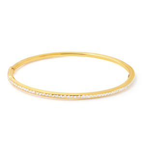 9ct Majestic Yellow Gold Silver Filled Bangle