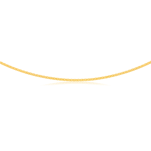 9ct Yellow Gold Silver Filled 45cm Chain 80gauge
