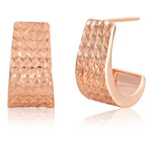 9ct Rose Gold Filled Dicut Fearture Studs Earrings