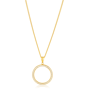 9ct Yellow Gold Silver Filled Circle of Life Pendant