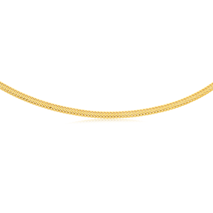 Silverfileld 9ct Yellow Gold Mesh 45cm Chain