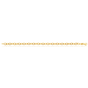 Silverfilled 9ct Yellow Gold 19cm Fancy Bracelet