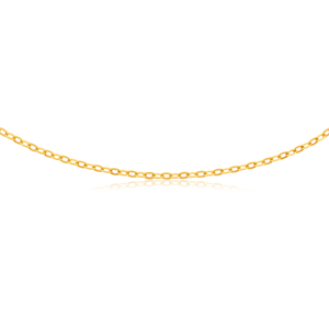 Silverfilled 9ct Yellow Gold Fancy 45cm Chain