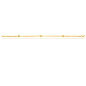 Silverfilled 9ct Yellow Gold Fancy Beads 19cm Bracelet