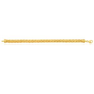 Silverfilled 9ct Yellow Gold Wheat 20cm Bracelet
