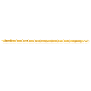Silverfilled 9ct Yellow Gold 20cm Gate Bracelet
