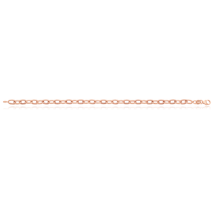 9ct Rose Gold Silverfilled 19cm Belcher Bracelet