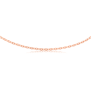 9ct Rose Gold Silverfilled 45cm Chain