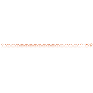 9ct Rose Gold Silverfilled 19cm Belcher Bracelet