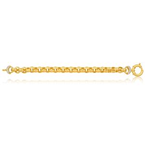 Silverfilled 20cm Belcher Bracelet With Blot Ring and Zirconia Endcap