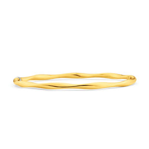 9ct Silverfilled Open Twist Bangle Yellow 65mm