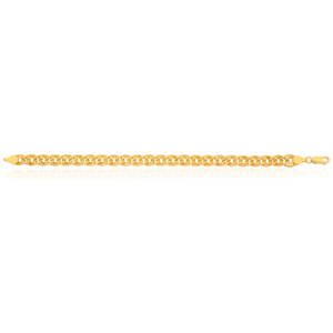 Gold Filled Double Curb 19cm 120 Gauge Bracelet