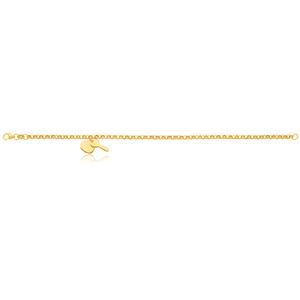 Silverfilled Belcher Heart Charm 19cm Bracelet