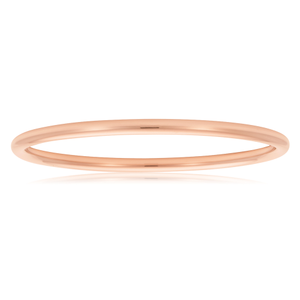 9ct Rose Gold SilverFilled  3mm x 65mm Plain Golf Bangle