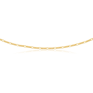 9ct Gold Filled Figaro 55cm Chain 80 Gauge