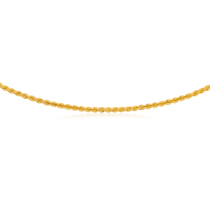 9ct Gold Filled Rope 50cm Chain 80 Gauge