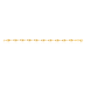 9ct Yellow Gold Filled Fancy 19cm Bracelet