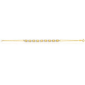 9ct Two-Tone Gold Filled Fancy 19cm Bracelet