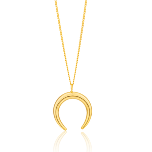 9ct Yellow Gold Filled Half Moon Pendant