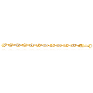 9ct Two-Tone Gold Filled 19cm Singapore Link Bracelet