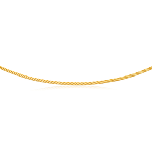 9ct Yellow Gold Filled 50cm Square Snake Chain
