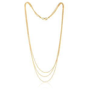 9ct Gold Silverfilled 43cm Necklace