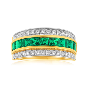 ring augusta wb emerald emrald lumo rings products