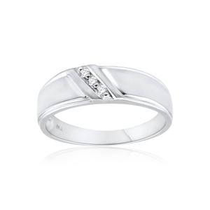 9ct White Gold Diamond Ring Set With 6 Points Diamonds