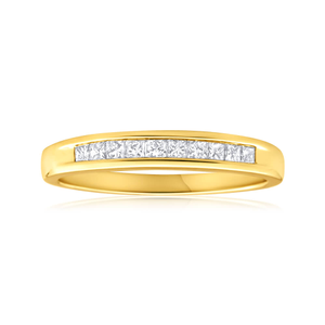 9ct Yellow Gold Diamond Charming Ring