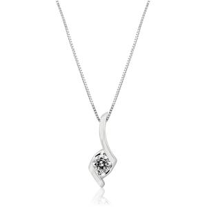 Sirena 9ct White Gold Light Champagne Diamond Pendant (TW=20pt)