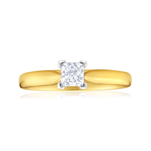 18ct Yellow Gold Solitaire Ring With 0.5 Carat Diamond