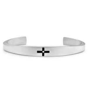 Forte Stainless Steel Diamond Bangle