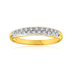 9ct Yellow Gold Impressive Diamond Ring