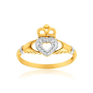 9ct Yellow Gold Majestic Diamond Ring
