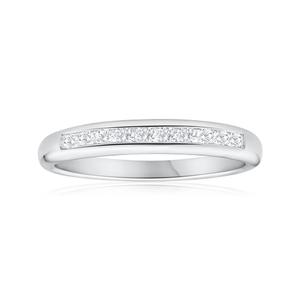 9ct White Gold Enticing Diamond Ring