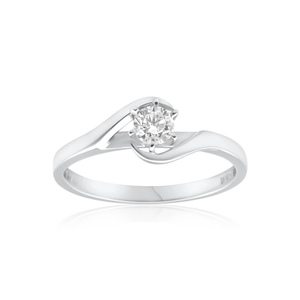 18ct White Gold 'Renee' Solitaire Ring With 0.25 Carat Diamond