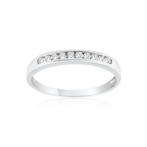 9ct White Gold Delightful Diamond Ring