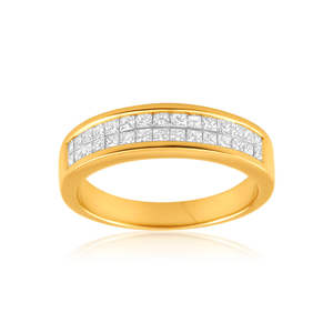 18ct Yellow Gold 'Yasmine' Ring With 0.5 Carats Of Diamonds