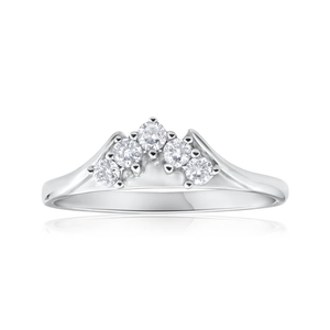 18ct White Gold Ring With 0.25 Carats Of Brilliant Cut Diamonds