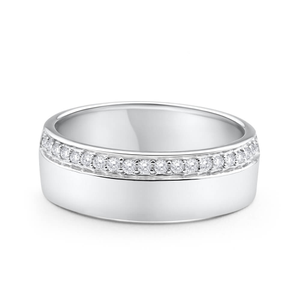 9ct White Gold Luxurious Diamond Ring