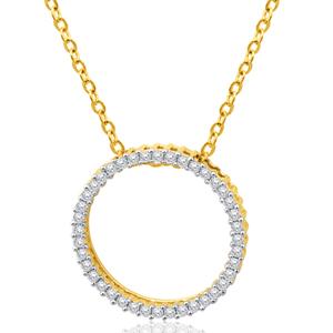 9ct Yellow Gold 1/2 Carat Diamond Circle of Life Pendant