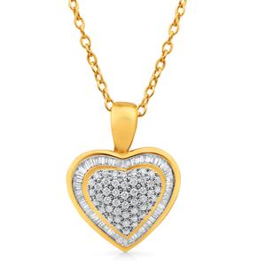 18ct Yellow Gold Pendant With 1 Carat Of Diamonds