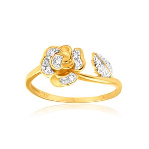 9ct Yellow Gold Gorgeous Bead Diamond Ring