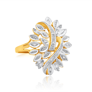 9ct Yellow Gold Diamond Ring Set With 10 Brilliant And 6 Baguette Diamonds